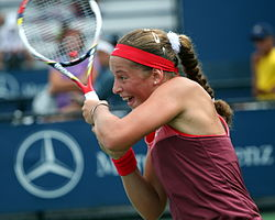 Jeļena Ostapenko at the 2013 US Open.jpg