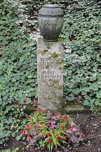 Berthold Delbrück - Grave at the Nordfriedhof in Jena