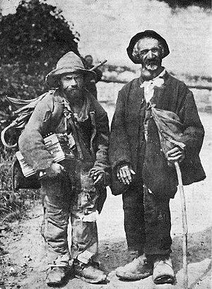 Itinerant groups in Europe - Two Jenische in Muotathal, Switzerland, ca. 1890