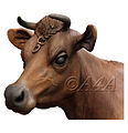 Jersey cow head bronze sculpture by John McKenna.jpg