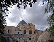 The Church of the Holy Sepulchre in Jerusalem - a centre long shared and disputed between the Roman Catholic and Eastern Orthodox churches which Zoghby attempted to reunite.