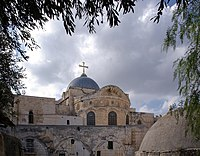 Jerusalem Holy Sepulchre BW 1.JPG