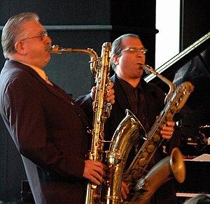 Joe Temperley - Temperley (left) and Gary Smulyan in November 2005