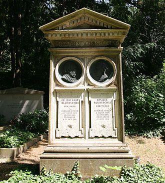 Johann Kaspar Bluntschli - Grave in Heidelberg