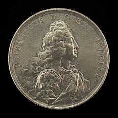 Frederick I, 1676-1751, King of Sweden 1720 [obverse]