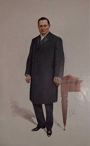 "John Bland-Sutton - ""A Great Surgeon"" Bland-Sutton as caricatured by ELF in Vanity Fair, February 1910"