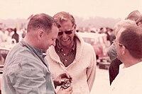 John Crosthwaite with John Biehl (sunglasses) and Frank Monise (glasses).jpg