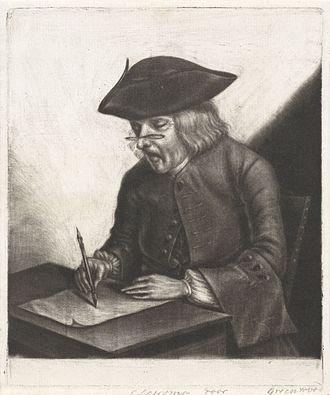 Tako Hajo Jelgersma - Portrait of Tako Hajo Jelgersma at work, by John Greenwood