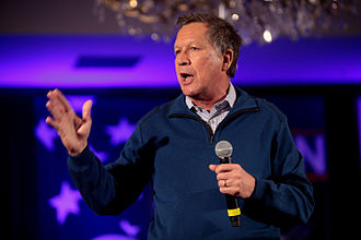 John Kasich 2016 presidential campaign - Kasich speaking at a town hall in New Hampshire
