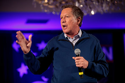 Kasich speaking at a town hall in New Hampshire John Kasich by Gage Skidmore.jpg