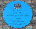 John Mortlock; plaque in Bene't street, Cambridge.jpg