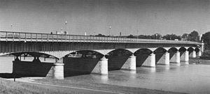 John Philip Sousa Bridge - Looking west at the John Philip Sousa Bridge over the Anacostia River in 1968