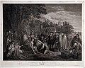 John hall (da benjamin west), william penn tratta con gli indiani per fondare la pennsylvania, 1775 (roma, ist. c.le per la grafica).jpg