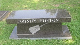 Johnny Horton - Johnny Horton bench at Hillcrest Cemetery in Haughton, Louisiana