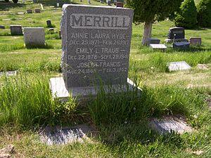 Joseph F. Merrill - Grave marker of Joseph F. Merrill.