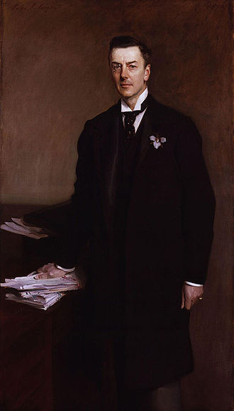 "Liberal Unionist Party - Joseph Chamberlain, head of the ""tariff"" faction of the party (1896)."