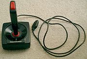 1980s one-button game joystick