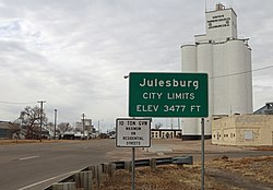 Entering Julesburg from the northeast.