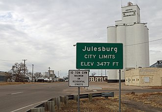 Julesburg, Colorado - Entering Julesburg from the northeast.