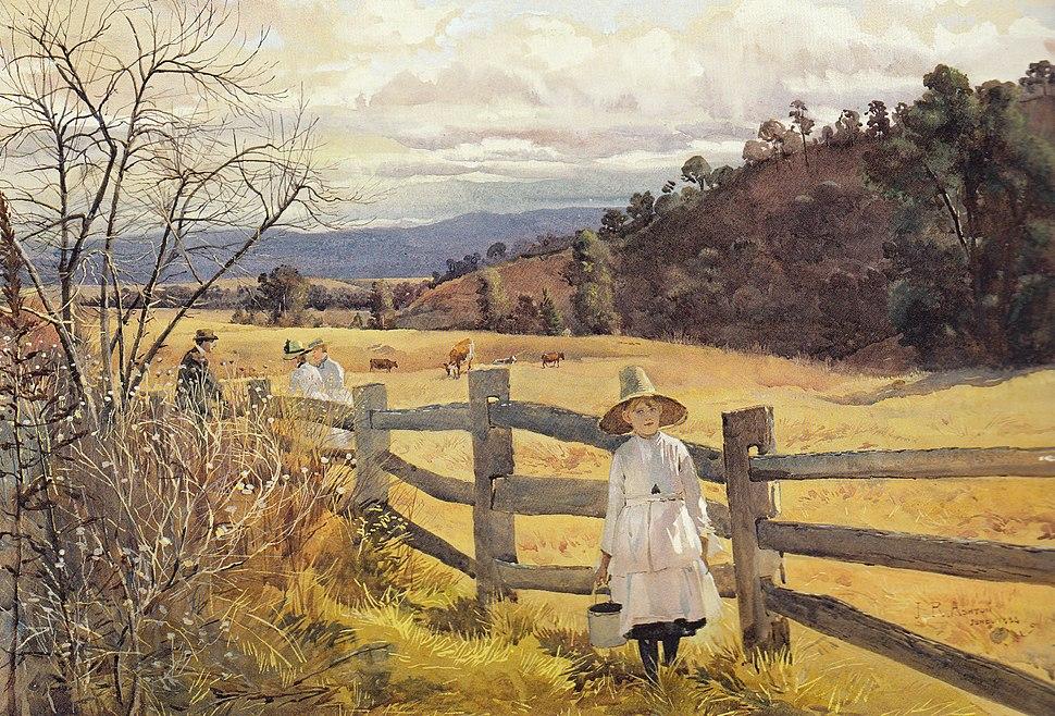 Julian Ashton - The Corner of the Paddock, 1888