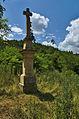 Kříž na hrázi Podhradského rybníka, Plumlov, okres Prostějov.jpg