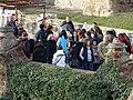 Křivoklát, přístupová cesta na hrad, od vyhlídky Karla Egona II.jpg