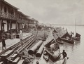 KITLV - 106126 - Lambert & Co., G.R. - Singapore - Proa harbor in the Air Musi at Palembang - circa 1900.tif