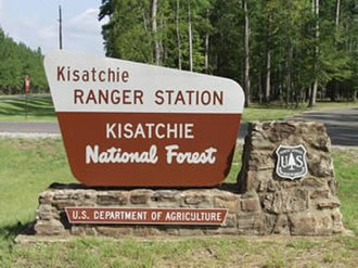 Kisatchie National Forest - Image: KRDO sign