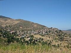 Landscape of Kabylie.