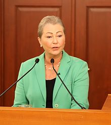 Kaci Kullmann Five - Press conference Nobel Peace Prize 2016.jpg