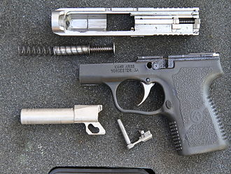 Kahr Arms - Polymer-frame Kahr CM9 field stripped for routine cleaning