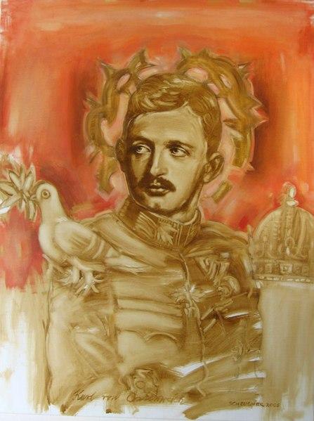 Archivo: Kaiser Karl I., Ölbild von Hannes Scheucher.jpg