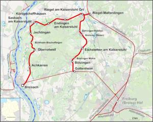 Breisach Germany Map.Kaiserstuhl Railway Wikipedia