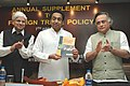 Kamal Nath releasing the Annual Supplement to the Foreign Trade Policy (2004-09), in New Delhi. The Minister of State for Commerce, Shri Jairam Ramesh and the Minister of State for Industry, Shri Ashwani Kumar are also seen (1).jpg