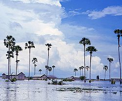 Monsoon season in Kampong Speu Province
