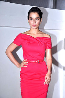 Kangana Ranaut is posing for the camera