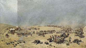 Khivan campaign of 1873 - Kaufmann runs short of water