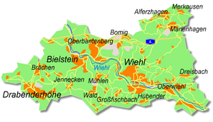 Wiehl - Map of Wiehl