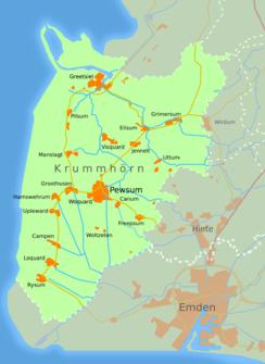 Karte Nordseeküste Niedersachsen.Greetsiel Wikipedia