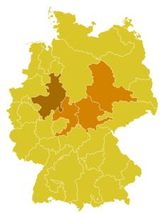 Karte der Kirchenprovinz Paderborn