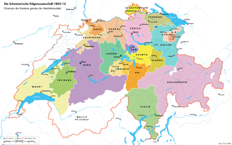 Act of Mediation - Cantons as set by the Act of Mediation