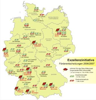 Exzellenzinitiative wikipedia for Deutschland universitaten