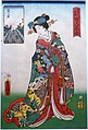 Kasumigaseki - One hundred famous places and beauties of Edo, by Toyokuni III (Kunisada), 1857 AD - Edo-Tokyo Museum - Sumida, Tokyo, Japan - DSC06797FXD.jpg