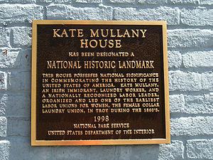 Kate Mullany House - Image: Kate Mullany House Marker 30May 2008