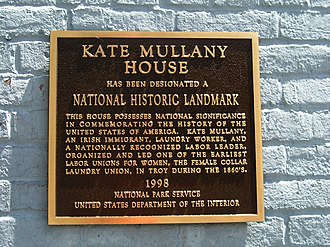 Kate Mullany House - Image: Kate Mullany House Marker 30May 2008