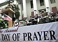 Katherine Harris offers prayer for the National Day of Prayer (2001).jpg