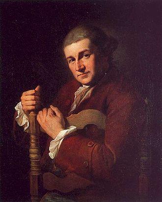 David Garrick - David Garrick's portrait, by Kauffman