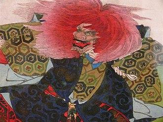 "Kawanabe Kyōsai - Renjishi (連獅子), or ""Dance of a Pair of Lions"", by Kyōsai. Renjishi is a famous dance in the Kabuki theatre."