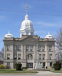 Kearney County, Nebraska courthouse from E 1.JPG
