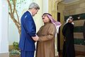 King Hamad of Bahrain Greets Secretary Kerry Before Meeting Amid Egyptian Development Conference.jpg